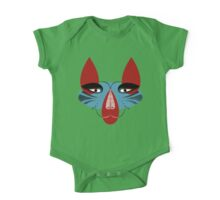 Coyote the Trickster in red, black and white Kids Clothes
