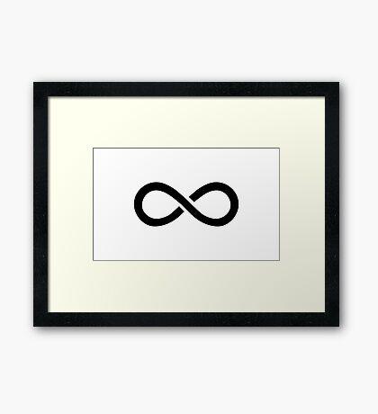 The 100 - Infinity symbol black Framed Print