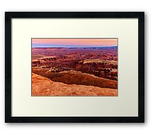 Sunset at Canyonlands Framed Print