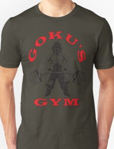 Goku's Gym (Black and Red Logo) T-Shirt