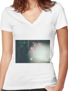 Delicate petals Women's Fitted V-Neck T-Shirt