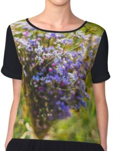 Purple Blossoms Chiffon Top