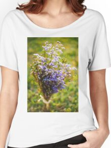 Purple Blossoms Women's Relaxed Fit T-Shirt