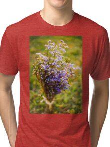 Purple Blossoms Tri-blend T-Shirt