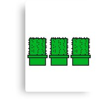 3 many pattern design pixel nerd geek gamer videogame 2d 8 bit cactus design games zocken Canvas Print