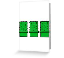 3 many pattern design pixel nerd geek gamer videogame 2d 8 bit cactus design games zocken Greeting Card