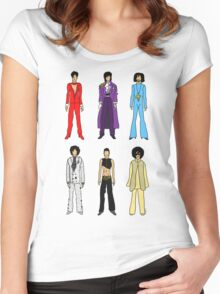 Outfits of Prince Fashion on White Women's Fitted Scoop T-Shirt