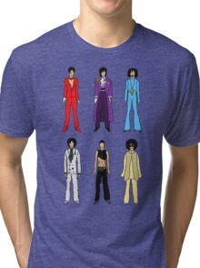 Outfits of Prince Fashion on White Tri-blend T-Shirt