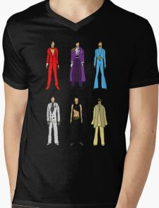 Outfits of Prince Fashion on White Mens V-Neck T-Shirt