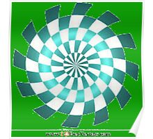 Checkerboard Fractal Optical Illusion Poster