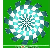 Checkerboard Fractal Optical Illusion Photographic Print