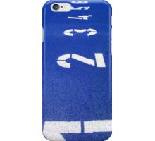 Numbers on Blue iPhone Case/Skin