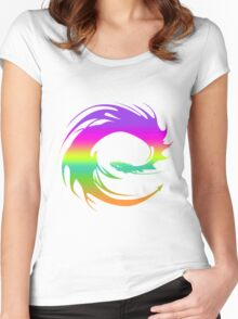 Colorful Eragon Dragon Women's Fitted Scoop T-Shirt