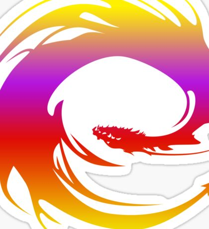 Colorful dragon - Eragon Sticker