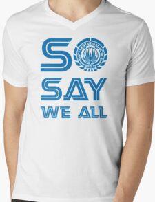 SO SAY WE ALL Mens V-Neck T-Shirt