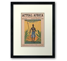 Artist Posters Actual Africa a tour of exploration by Frank Vincent 0410 Framed Print