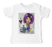 I Love Books 2 Baby Tee
