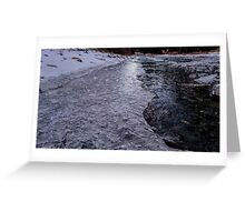 Icy walk Greeting Card