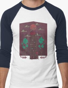 The Towering Bed and Breakfast of Unparalleled Hospitality Men's Baseball ¾ T-Shirt