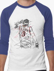 Allen Iverson Men's Baseball ¾ T-Shirt