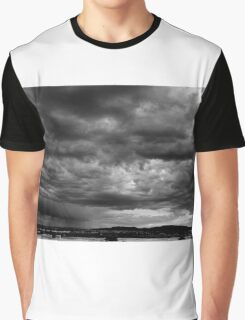 Southwest Desert Sky b&w Graphic T-Shirt