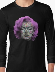Marilyn Sugarskull Long Sleeve T-Shirt