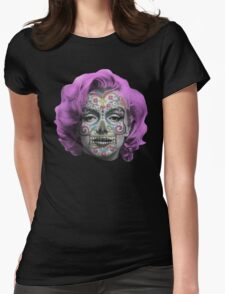 Marilyn Sugarskull Womens Fitted T-Shirt