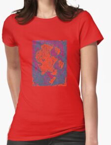 Map Composition Womens Fitted T-Shirt