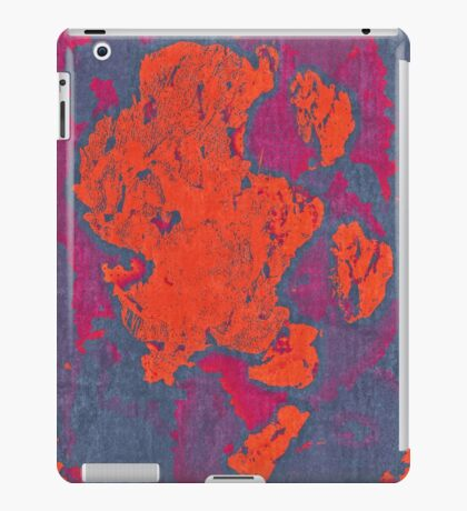Map Composition. Red And Blue Neon Pattern iPad Case/Skin