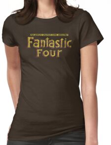 Fantastic Four - Classic Title - Dirty Womens Fitted T-Shirt