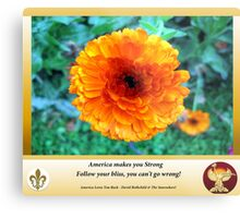 America Strong Sunflower Covers Metal Print