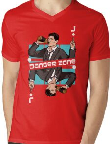 Jack DangerZone! Mens V-Neck T-Shirt