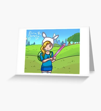 Fionna the Human in Ooo Greeting Card