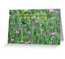 Purple Wildflower of Poets Greeting Card
