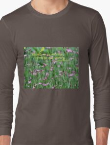Purple Wildflower of Poets Long Sleeve T-Shirt