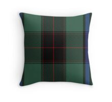 00529 Black Thistle Tartan  Throw Pillow