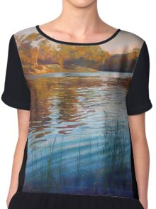 'Evening Reflections' - Goulburn River Chiffon Top
