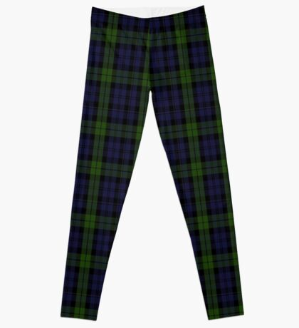 00535 Black Watch (smallest sett) Military Tartan  Leggings