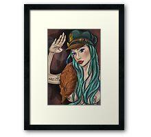 Scarlett's Salute Framed Print
