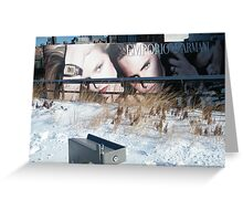 NY January High Line in Snow, New York's Elevated Garden and Walking Path Greeting Card