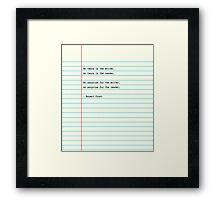 Writer Surprise Framed Print