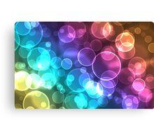 Bokeh Multicolor circles Canvas Print