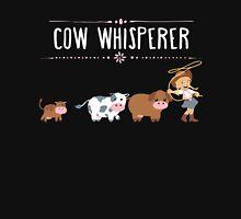 Cow whisperer Women's Fitted V-Neck T-Shirt