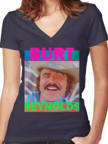 The Bandit - Burt Reynolds  Women's Fitted V-Neck T-Shirt