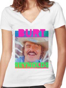 The Bandit - Burt Reynolds  Women's Fitted V-Neck T-Shirt