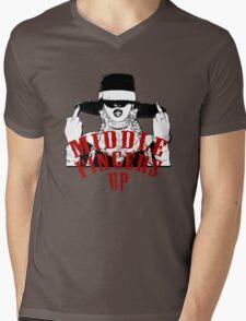 Middle Fingers Mens V-Neck T-Shirt