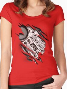 Retro At Heart! Women's Fitted Scoop T-Shirt