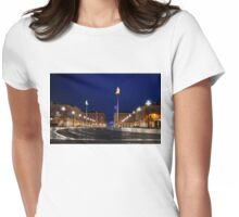 Nice, France - Place Massena Blue Hour  Womens Fitted T-Shirt