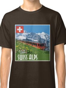 Vintage Travel Poster Swiss Alps Classic T-Shirt