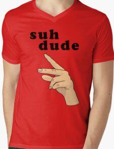 Suh Dude meme | Black Letters Mens V-Neck T-Shirt